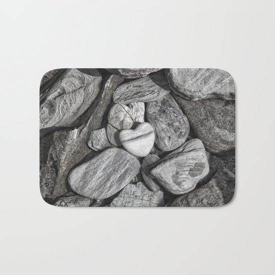 Stone Heart Bath Mat