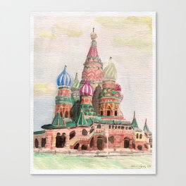 St Basil Cathedral, Moscow Canvas Print