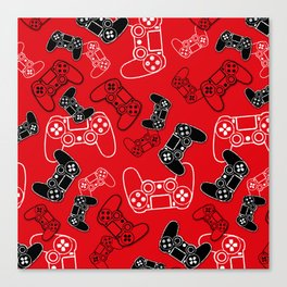 Video Games Red Canvas Print
