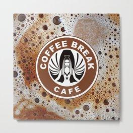 Coffee Break Cafe Metal Print