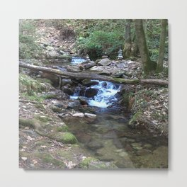Waterfall Photo Nature Metal Print