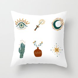 Hipster, boho simple drawings Throw Pillow