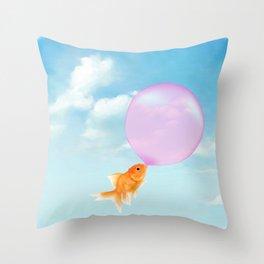 Goldfish Vacation Throw Pillow