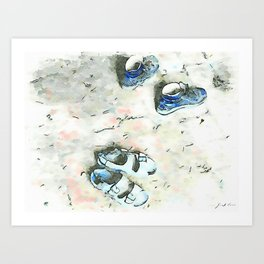 Hortus Conclusus: old shoes and sandals Art Print