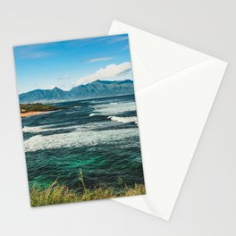 Wave Series Photograph No. 29 - The Emerald Sea - Hawaii Stationery Cards
