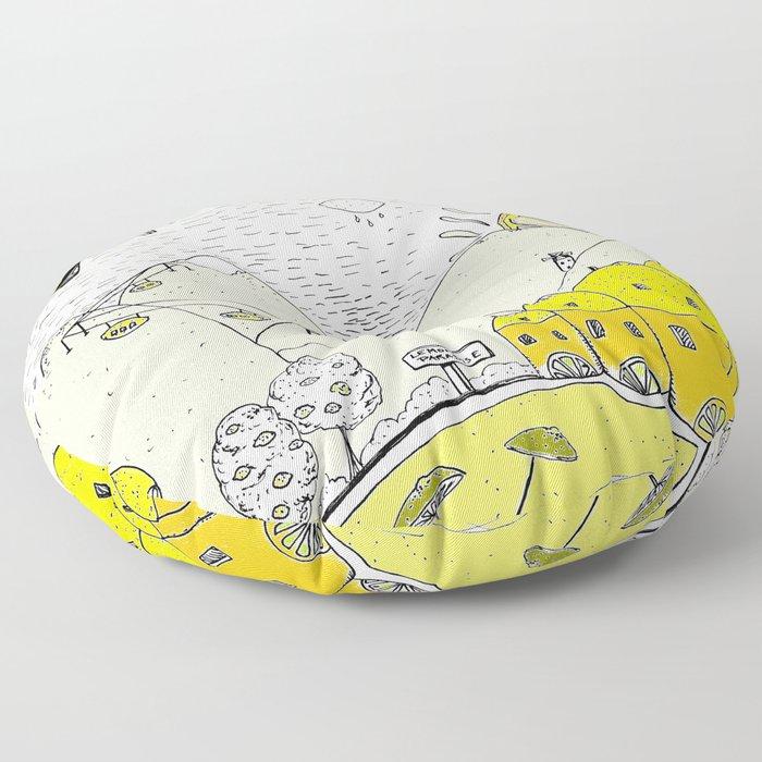 Lemon paradise Floor Pillow