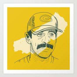 Mustachioed GOAT Art Print