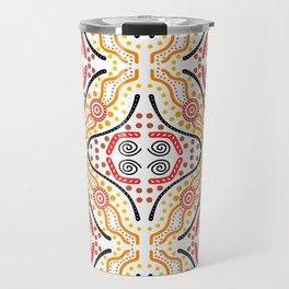 Landscape Australis (white) - An Abstract Design Travel Mug