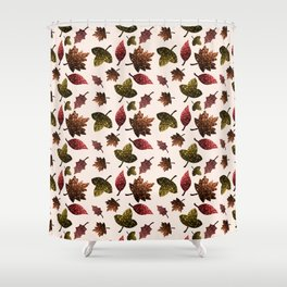 Sparkly leaves fall autumn sparkles pattern Shower Curtain