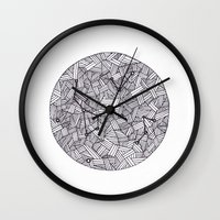 constellation Wall Clocks featuring Constellation by Inked in Red