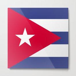 Cuba flag emblem Metal Print