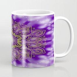 Mandala of Lights on Purple Coffee Mug