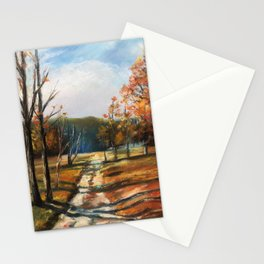 Fall Afternoon Trees  Stationery Cards