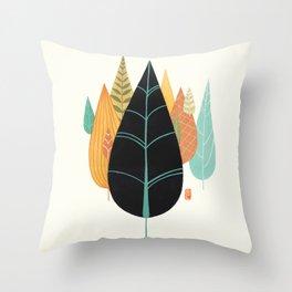 Fair Forest- Retro Orange Palette Throw Pillow