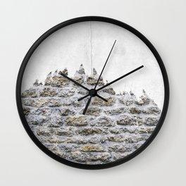 Stone and Tree Wall Clock
