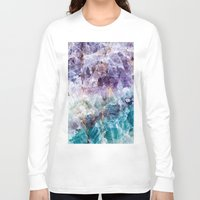crystals Long Sleeve T-shirts featuring crystals  by lokyic