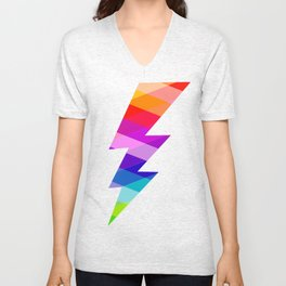 Jewelled Lightning Unisex V-Neck