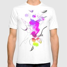 Art-Rain by Nico Bielow MEDIUM White Mens Fitted Tee