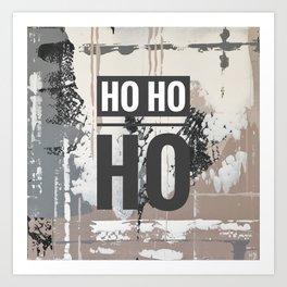 Snowfall - Ho Ho Ho Art Print