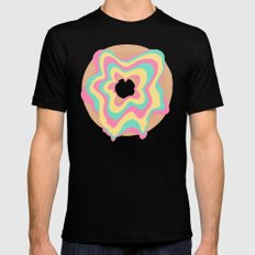 Glazed and Confused MEDIUM Black Mens Fitted Tee