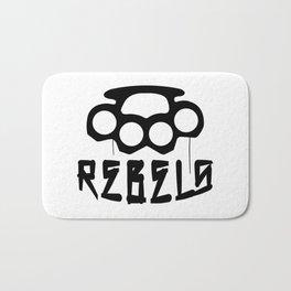 Rebels Brass Knuckles Bath Mat