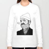 zissou Long Sleeve T-shirts featuring Team Zissou by John C Thurbin