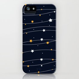 Sparkling stars iPhone Case