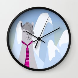 Lama Hipster Design Wall Clock
