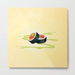 Sushi (square) Metal Print