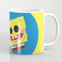 spongebob Mugs featuring Spongebob Squarepants by Eyetoheart