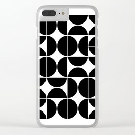 Mid Century Modern Geometric 04 Black Clear iPhone Case
