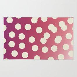 Design dots on pink. Vint. 50s dots Rug