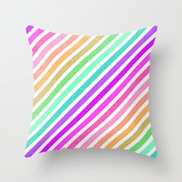StripeS Bright & Colorful Pixels Throw Pillow