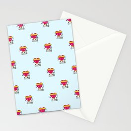 My heart goes faster for you pattern Stationery Cards