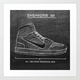 Sneaker 101 Art Print