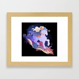 Stardust - Yvaine and her Unicorn Framed Art Print