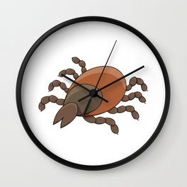 dangerous parasite - tick Wall Clock