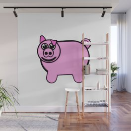 Stuffed Pig Wall Mural