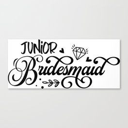 Junior Bridesmaid Canvas Print
