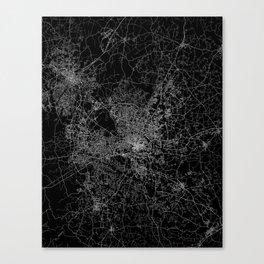 raleigh map north carolina Canvas Print