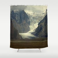 iceland Shower Curtains featuring Iceland Glacier  by Factory23