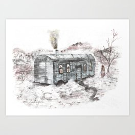 In the middle of beautiful nowhere Art Print