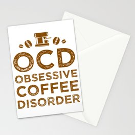 Obsessive Coffee Disorder Stationery Cards