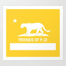 P-22 Mountain Lion Yellow Art Print