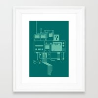 video games Framed Art Prints featuring Video Games by Isra