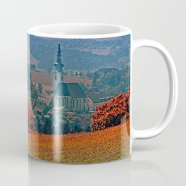 A hunting perch, a village and some vivid scenery Coffee Mug