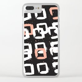 Geometric Abstract Clear iPhone Case
