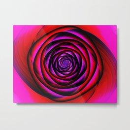 Fractal rose Metal Print