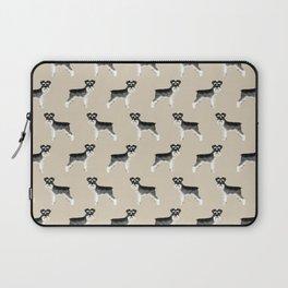 Schnauzer minimal basic dog art pattern design perfect gifts for schnauzers dog breed Laptop Sleeve