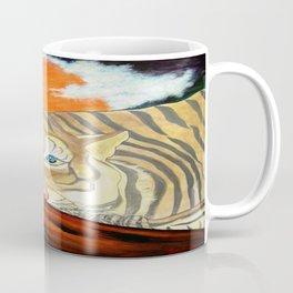 THE RESTING WHITE TIGER  Coffee Mug